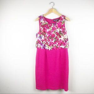 Karl Lagerfeld Floral Pink Shift Dress Size 6